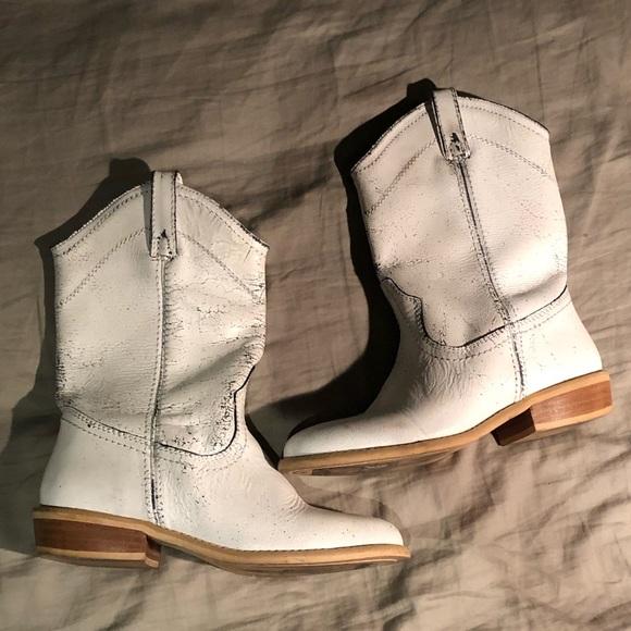 steve madden white cowboy boots